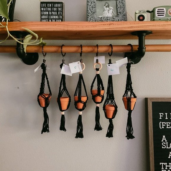 Hand Crafted Other - Mini macrame plant hangers